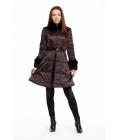 Hnědý saténový kabát