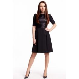 Elegantní kožené šaty